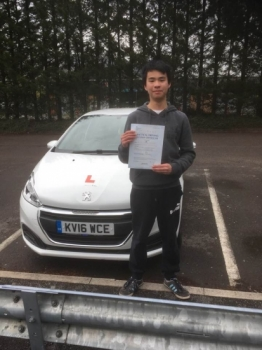 17.4.19 - Well done to Luis Mak Shan on passing your driving test in Merthyr... Outstanding!!