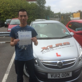 9915 - A massive congratulations goes out to Louis who passed his driving test yesterday with Peter in Merthyr Tydfil 1st time with only 1 MINOR