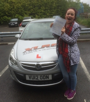 19516 - A superb result from Lydia Powell who passed her driving test today in Merthyr Tydfil with only 2 minors with our Peter