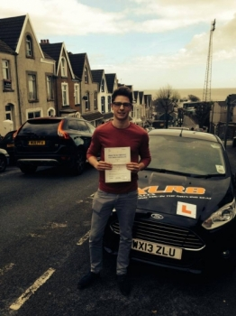 080414 Well done Marcus Stanway-Williams passing your driving test at Swansea great result