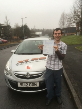 71216 - Congratulations to Martin Davies who passed his driving test with our Peter in Merthyr Tydfil 1st time