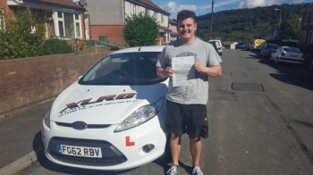 23916 - Congratulations to Michael who passed his driving test today in Merthyr Tydfil 1st time stunning