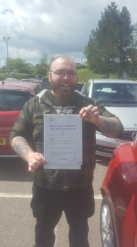 31.5.19 - A very busy week for Rob and the automatic at the driving test center. The first of 2 passes goes to Mike Spear... Brilliant result and just