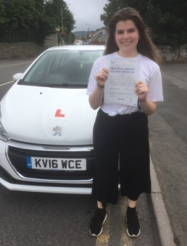 30.7.18 - Congratulations to Molly Sedgemore who passed her test in Merthyr with our Peter 1st time!!