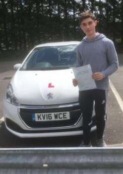 19517 - Congratulations to Morgan Page who passed his driving test today 1st time with only 2 minor with our Peter