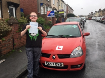 22217 - Congratulations Morgan on passing your manual driving test in Newport Enjoy your freedom