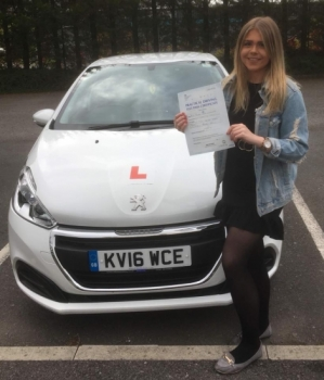 24.8.18 - Congratulations to Morgan Woodward on passing her driving test 1st time today with only 2 minor faults with our Peter.... lovely result ... safe driving