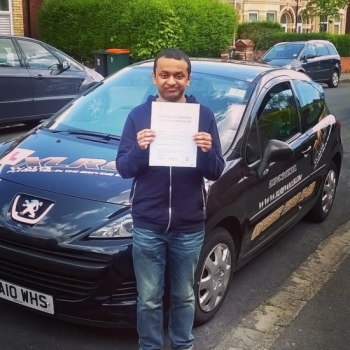 26516 - Well done to Mujahid for passing your driving test today in Newport with just 5 minors Fab result that was very well deserved