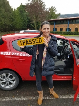 17.11.19 - Congratulations to Nadine Aawar on passing her automatic driving test first time in Merthyr with our Rhys!!!! Well done and safe driving 🚗