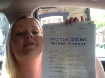 24515 - Another amazing result from Natalie Collins from Abertridw who passed her Automatic Driving test in Merthyr Tydfil Congratulations