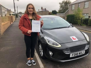 8/10/18 - Congratulations to Nia Morgan on passing her test this afternoon with only 5 faults lovely result now no more busses for you 😀...