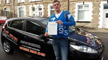 1122014 - Congratulations to Paul Davies who passed his driving test in Pontypridd RESULT