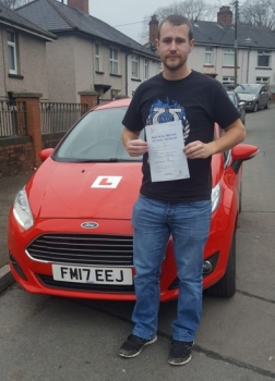 8118 - Congratulations goes out to Philip Davies who passed his driving test 1st time today in Merthyr Tydfil after taking up a semi intensive driving course A huge thank you for all the giggles and good luck in welcoming your new baby next month