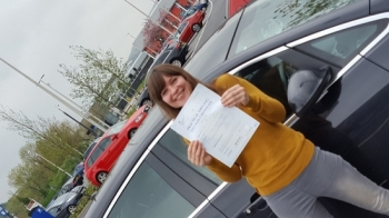 12516 - Brilliant result for Rebecca Dennis passed her automatic driving test really proud of you Bec well done