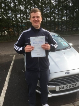 23317 - Congratulations to Rhys Oakley who passed his manual driving test with our Peter today lovely result