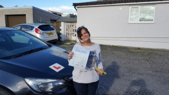 191016 - A Massive well done to Sally ann Cartwright who passed her automatic driving test today first time with just 3 little minors after a nervous start you smashed out it of the park brilliant result and you worked so hard for it really proud of you sal