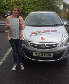 23916 - Super result from Sarah Evans on passing her driving test today in Merthyr Tydfil with only 1 minor fault with our Peter