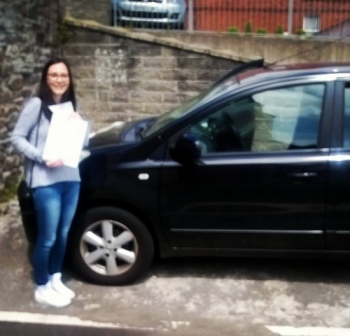 2616 - A big well done goes to Sarra today for passing her automatic driving test in Newport first time and with only 4 minors too Super pleased for you sorry itacute;s a blurry picture