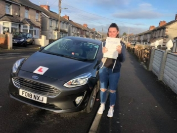 10/12/18 - Congratulations to Sasha Bichum on passing her test this morning first time in Merthyr Tydfil with only 4 faults lovely drive now mam can have a rest and you can drive yourself to work 😊