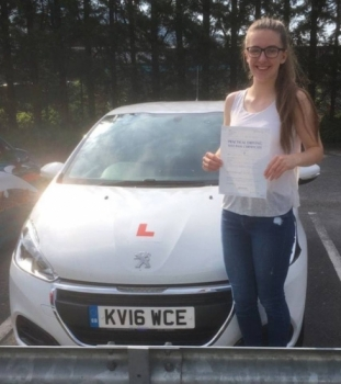 24.5.18 - Congratulations to Sophie Davies on passing her driving test with only 1 minor fault with our Peter... Stunning result!!