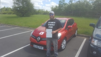 21.6.19 - Another Brilliant Pass today for Stuart Medhurst in the automatic 1st time too ....Happy Driving buddy!!