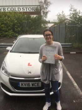 30.08/2019 - Congratulations to Tegan on passing your driving test in Merthyr with our Peter ... All your hard work paid off 😁😁😁