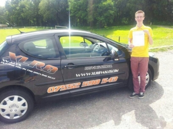 17714 - Well done Tom on passing your test today in Newport on your first attempt with just 2 minors and only after 20 hours of training Even complimented by the examiner too for your great driving Well done