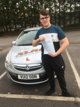 22217 - Congratulations to Tom Burgess who passed his test 1st time in Merthyr with our Peter :-