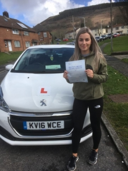 3.4.18 - Congratulations goes out to Yasmin Williams who passed her driving test today 1st time with our Peter... What a lovely job and enjoy your independence