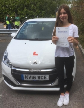 16.7.18 - Congratulations to Yelena Petra on passing her driving test 1st time today with our Peter