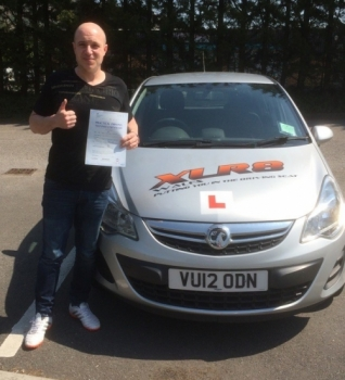 19516 - Congratulations to Adam Dancer who passed his driving test in Merthyr Tydfil 1st time on Friday with our Peter