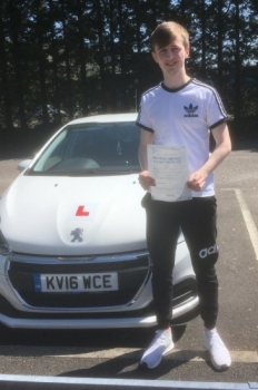 9517 - Congratulations goes out to Cameron Williams who passed his test today 1st time with our Peter